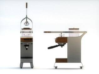 Máquina de café da empresa Blossom