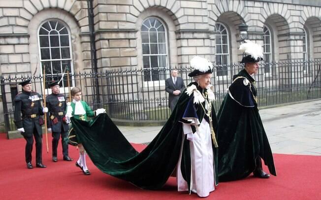 A rainha Elizabeth II e o príncipe Philip
