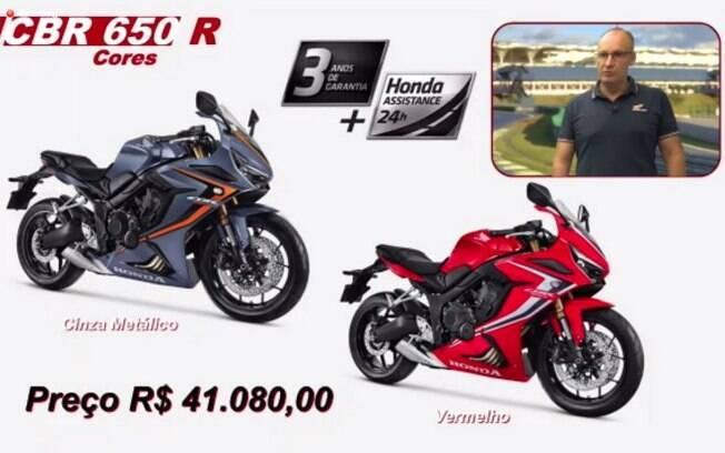 Cores e preço da Honda CBR 650R
