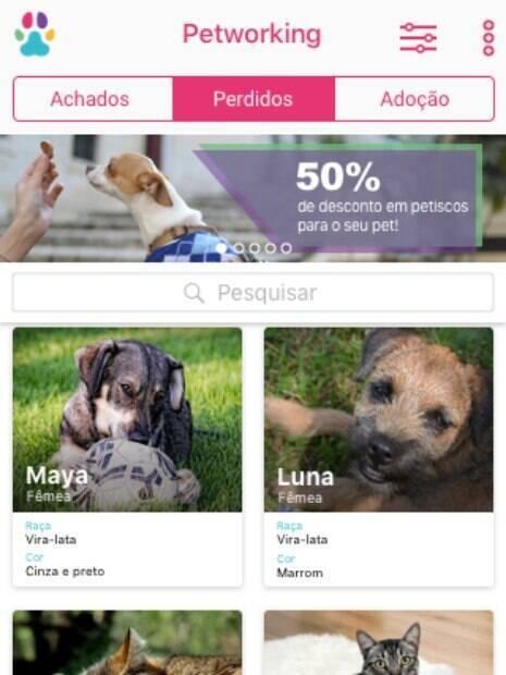 Para usar o aplicativo, basta cadastrar seu animal e colocar todas as informações físicas e comportamentais dele