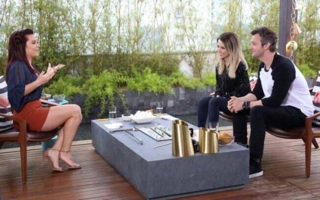 Fã confessa de Sandy, ela recebeu a apresentadora e o marido na última temporada de