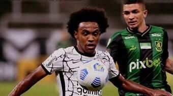 Na reestreia de Willian, Corinthians empata em casa com América-MG