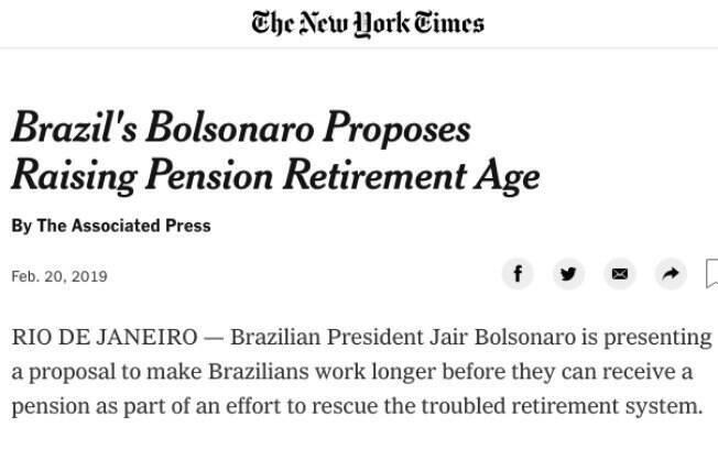 O The New York Times se refere à reforma como um esforço para salvar a