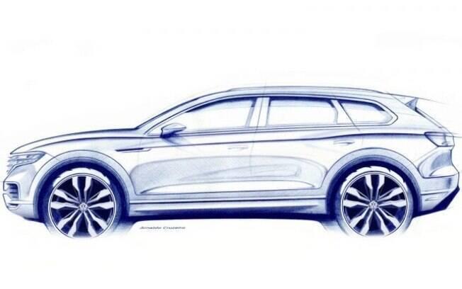Primo dos luxuosos Porsche Cayenne e Bentley Bentaiga, o Volkswagen Touareg virá com mais tecnologia e sofisticação
