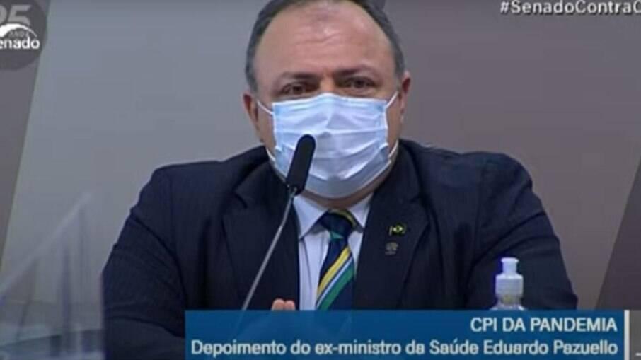 Eduardo Pazuello em depoimento na CPI da Covid