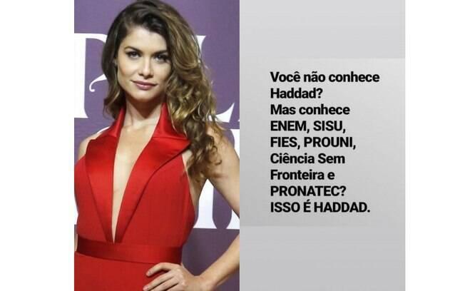 Famosos apoiam Fernando Haddad do PT no segundo turno das eleições