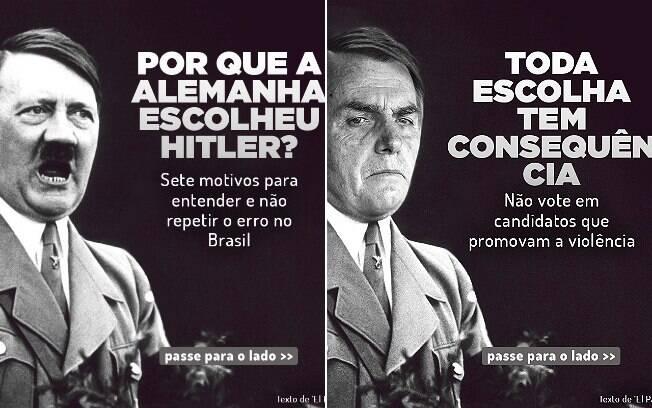 Campanha de Haddad permite comparação entre Hitler e Bolsonaro