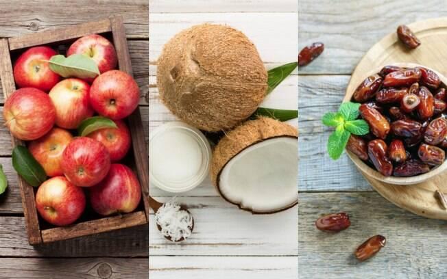 Maçã, coco e tâmara estão na lista de itens que podem substituir o açúcar