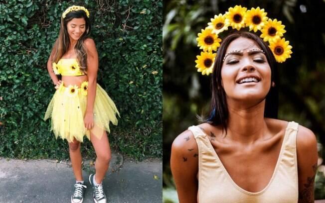 Entre as fantasias de carnaval mais procuradas no Pinterest, a de girassol foi a que mais teve aumento nas buscas este ano