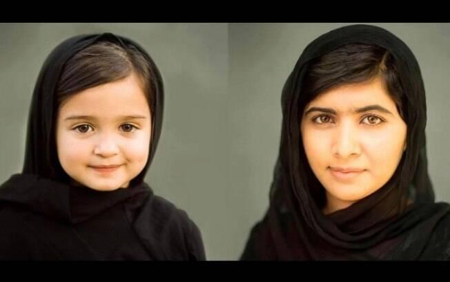 A pequena Scout, de três anos,  se inspirou na ativista paquistanesa Malala Yousafzai e foi clicada pela mãe Ashley Larson