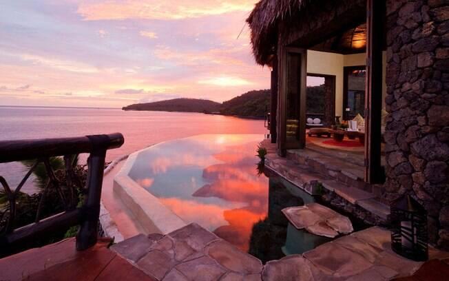 As suítes de luxo da Laucala Island trazem mordomias da civilização para uma ilha privativa no Oceano Pacífico
