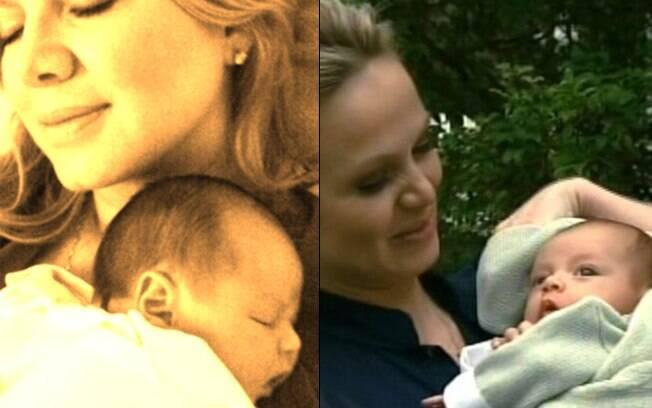 Eliana e o filho Arthur