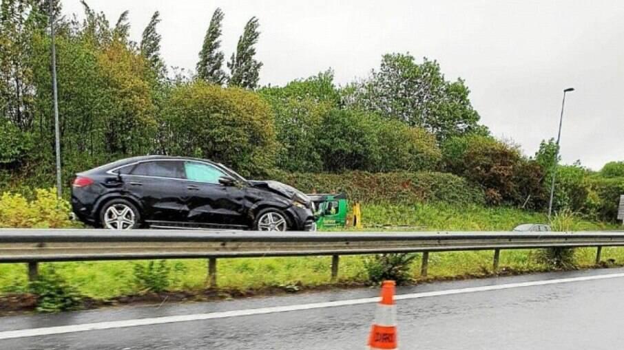 Jean Lucas capotou o carro em rodovia na França