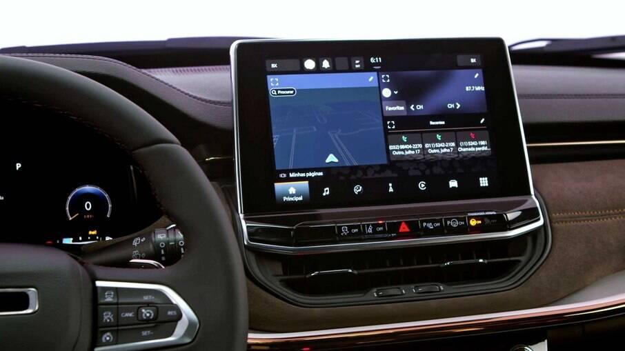 Jeep Commander terá central multimídia com conectividade  sem fio para Apple CarPlay e Android Auto