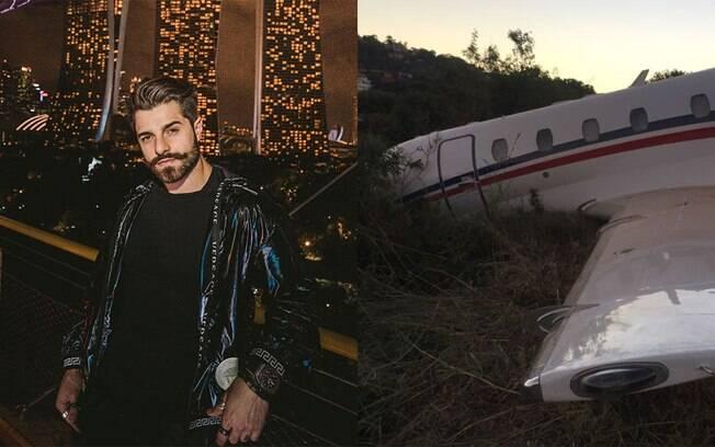 Alok e imagem de acidente de avião