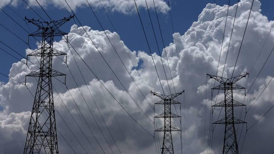 Torres de energia no Rio de Janeiro