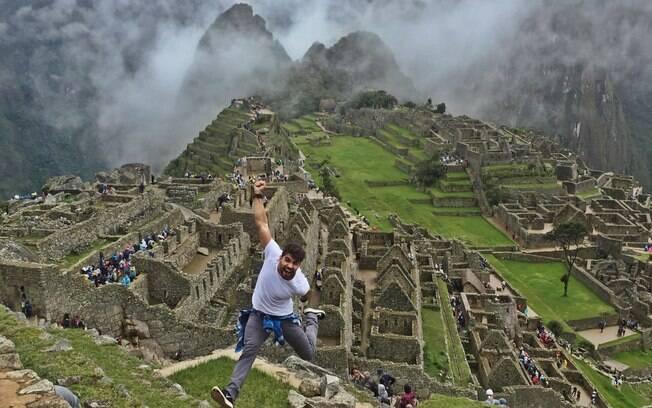 Quando o viajante foi visitar Machu Picchu, no Peru, choveu e ele precisou voltar outro dia para conhecer destino