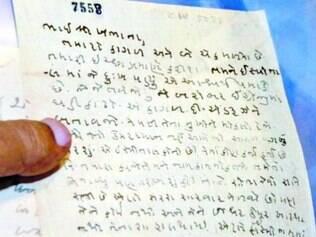 As três cartas de Gandhi estariam em ótimo estado de conservação