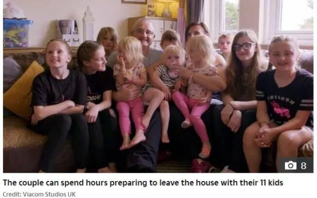 Olivia, de 12 anos, afirma que ter uma grande família é mais divertido do que trabalhoso