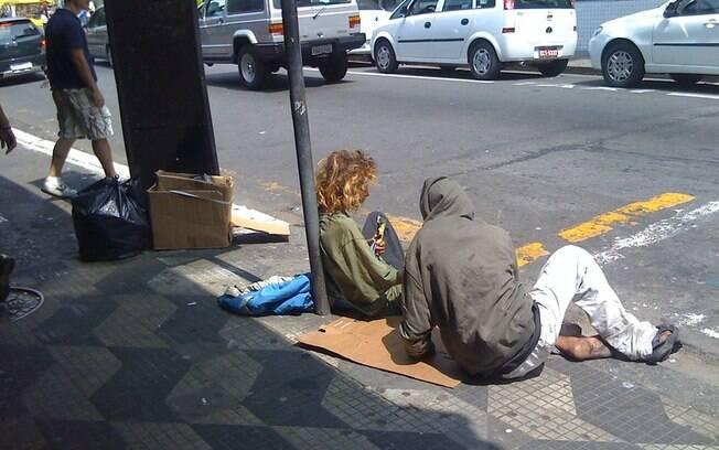 Entre os moradores de rua de São Paulo, 3,9% são crianças