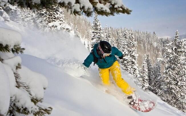 Aspen, nos Estados Unidos, é um dos destinos mais concorridos para quem quer esquiar
