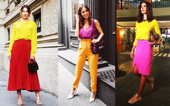 O color blocking inspira um look moderno e atual