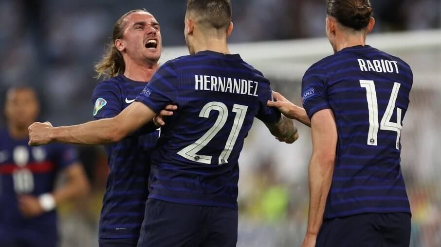 França supera a Alemanha na primeira rodada da Eurocopa