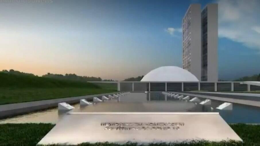 Projeto do memorial da Covid em Brasília