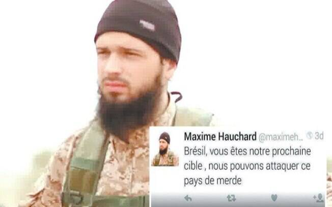 Maxime Hauchard aparece em vídeos de decapitação. Abin confirmou a autenticidade do perfil