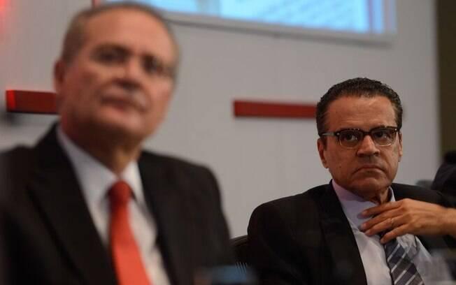 Ao lado de Calheiros, o ex-ministro é visto antes da prisão; com Henrique Alves livre, processo caminha para a absolvição