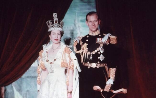 Rainha Elizabeth II e Príncipe Philip, seu marido, quando jovens