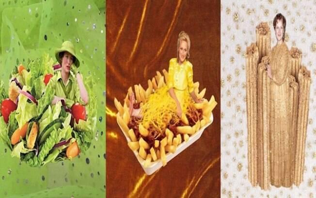 Maryl Streep vira pratos de comida