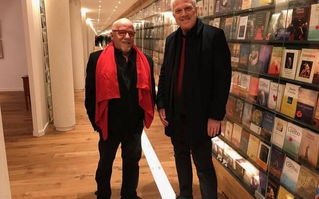 Pedro Bial e Paulo Coelho na Suíça.
