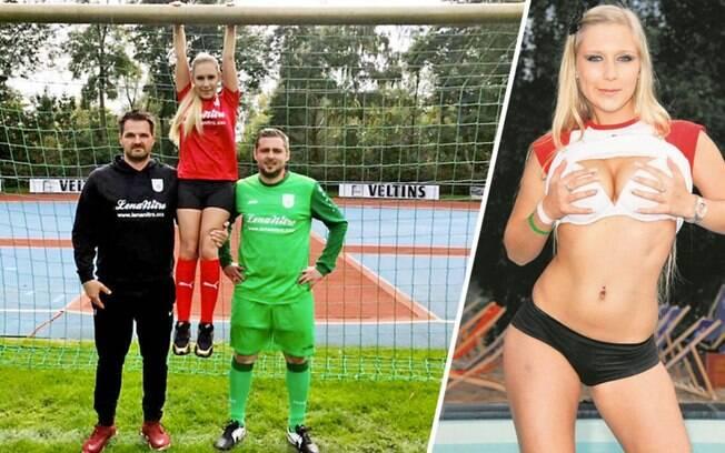 Atriz pornô Lena Nitro tentou ser patrocinadora do Oberwürzbach, clube da sexta divisão alemã