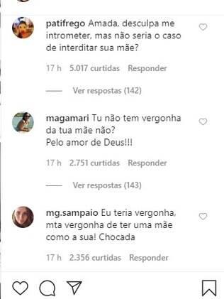 Comentários dos internautas