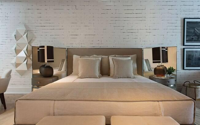 Único ambiente da mostra que foi inspirado numa série, o espaço tenta reproduzir o  apartamento de Harvey Specter