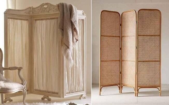 O biombo é uma solução interessante para garantir privacidade ao hóspede se o quarto não tiver banheiro