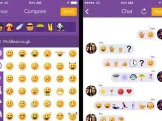 Emojicate tem proposta de comunicação apenas com o uso de emojis.