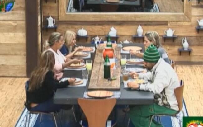 Peões almoçaram juntos na sede