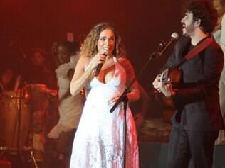 Daniela Mercury no palco do Best Buy Theater