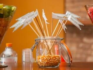 Tags de mesa para decorar o casamento