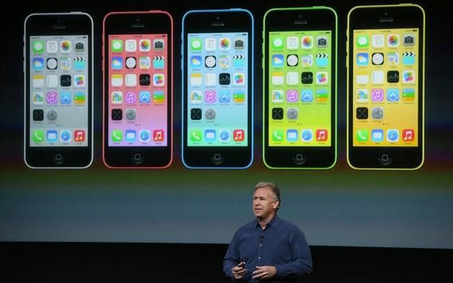 iPhone 5C tem cinco cores