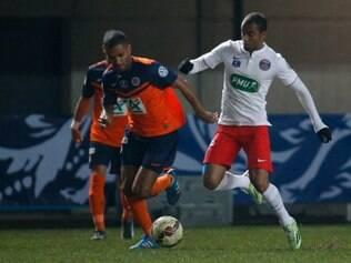 O brasileiro Lucas foi um dos destaques do PSG, na vitória sobre o Montpellier