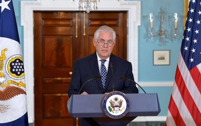 Secretário de Estado dos EUA, Rex Tillerson reafirmou esforços para negociar saída diplomática com a Coreia do Norte
