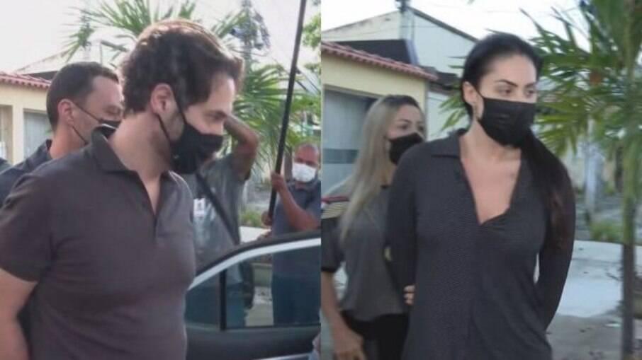 Dr. Jairinho e Monique Medeiros sendo presos