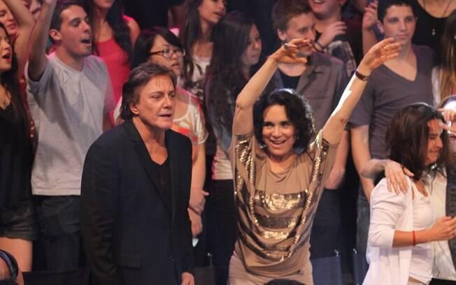 Regina Duarte e Fábio Jr. dançaram ao som de Gaby Amarantos