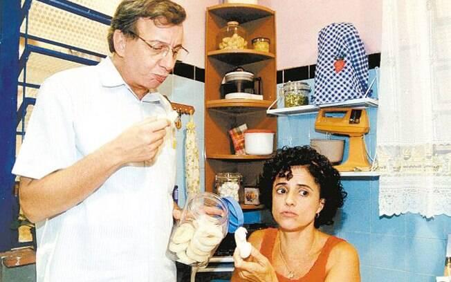Lineu e Nenê em 2001, no primeiro ano de