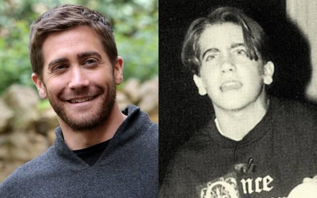 Jake Gyllenhaal no começo deste ano, e em 1996 no Harvard-Westlake School, Califórnia