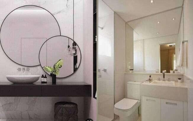 O truque para aumentar os espaços pequenos é utilizar espelhos