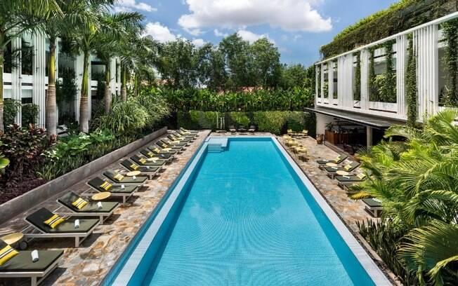 O Viroth's Hotel, em Siem Reap, Camboja, é uma das opções mais requintas e oferece muito conforto para o turista